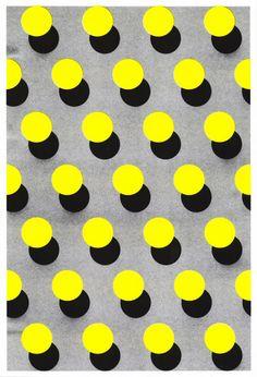 abstract, shape, bright, circle, dots, yellow