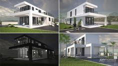 Villa Peters - a two storey 3 Bedroom Villa designed for Cosan Development on a narrow site on the Costa Blanca, Spain.