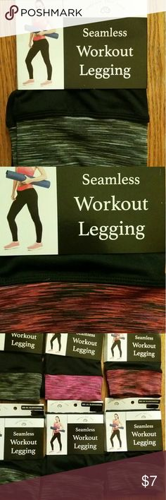 Super comfortable workout leggings Embrace Your Love  several pairs avail.  seamless workout leggings with yoga top waistband avail sizes: 2 Size SM/MD 2 Size MD/LG 2 Size LG/XLG Waistband colors differ.  feel free to ask questions!! embrace your love Pants Leggings