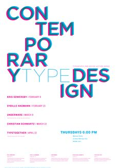 Type design lecture series poster by Magdalena Wistuba, communication designer