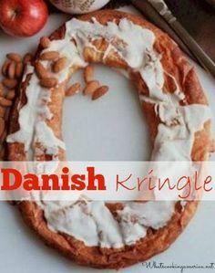 Danish Kringle Recipe, Whats Cooking America Pastry Recipes, Dessert Recipes, Cooking Recipes, What's Cooking, Danish Recipes, Breakfast Recipes, Cooking Ideas, Breakfast Ideas, Christmas Desserts