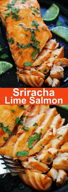 Sriracha Lime Salmon – Baked Salmon with delicious Sriracha and lime juice marinade. Moist, juicy and mouthwatering salmon recipe that you want to eat every day   rasamalaysia.com