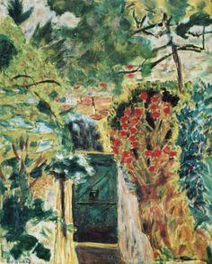 Pierre Bonnard / 1943, Vers la Porte de la villa le Bosquet Vue du jardin