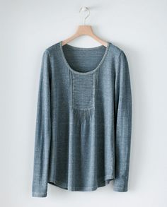 Relaxed and easy to wear Pintucked Jersey Tunic