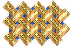 Medieval Arts & Crafts: Brick stitch pattern #5