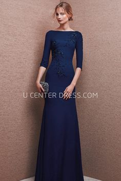 $145.59-Bateau Neck 3-4 Sleeve Beaded Chiffon Modest Evening Gown With Low-V Back and Sleeves. http://www.ucenterdress.com/bateau-neck-3-4-sleeve-beaded-chiffon-prom-dress-with-low-v-back-pMK_301630.html Shop for affordable evening gowns, prom dresses, white dresses, party dresses for women, little black dresses, long dresses, casual dresses, designer dresses, occasion dresses, formal gowns, cocktail dresses . We have great 2016 Evening Gowns on sale now. #evening #gowns