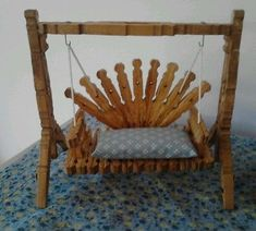 clothespin furniture - Google Search Handmade - Home & Kitchen - Furniture - handmade furniture - http://amzn.to/2ksLfE7