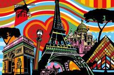 Paris l'Amour by Lobo Pop Art