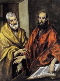Saint Peter and Saint Paul - El Greco Francisco Goya, Canvas Artwork, Oil On Canvas, Expo Paris, Diego Velazquez, St Peter And Paul, Poster Prints, Art Prints, Kirchen