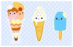 Cute Food With Faces | cute foods - frozen selection by ~purapea on deviantART