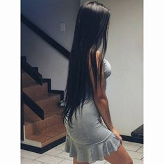 17 Hot Styles - Braided Ponytail for Black Hair in 2019 - Style My Hairs Long Silky Hair, Long Black Hair, Super Long Hair, Long Curly, Black Ponytail Hairstyles, Black Women Hairstyles, Straight Hairstyles, Funky Hairstyles, Men's Hairstyles