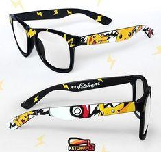 Pokemon Reading glasses | Black glasses with pikachu and pokeball | geek fashion, style