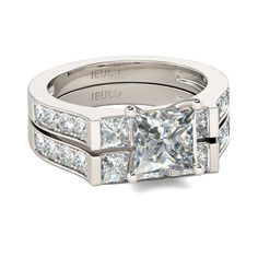 33d07b1ec60d51 Buy Contemporary Design Princess Cut Sterling Silver Ring Set online.  Jeulia offers premium quality jewelry