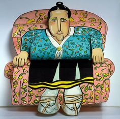 Gertrude by Red Grooms: Portrait of Gertrude Stein, Smithsonian American Art Museum
