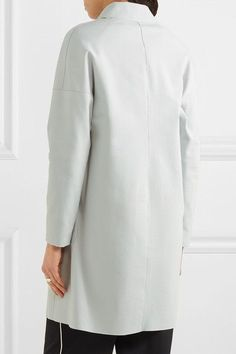 Harris Wharf London - Oversized Stretch Cotton-blend Coat - Sky blue - IT48