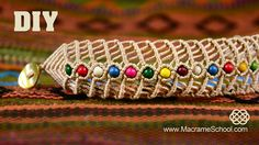 How To Make a Macrame Fishbone Bracelet with Beads (Tutorial). Please watch more beaded macramé jewelry in this playlist: http://goo.gl/b4iPao To make this b...