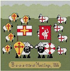 Baaattle of Hastings cross stitch pattern.