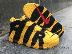 newest collection ea83e e6312 Nike Air More Uptempo Custom Bruce Lee Black Yellow New Release