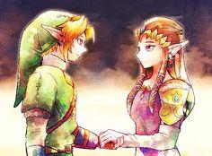 My favorite version of Link and Zelda