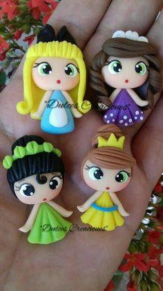 Princesas en Porcelana Fría. Alicia,Sofía,Tiana y Anastasia. Hechas Por Mary Reyes De Dulces Creaciones.