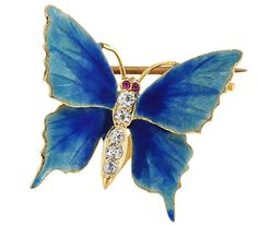 """Riker Bros. Art Nouveau Butterfly Brooch - The Three Graces. I adore the work of these 19th century American jewelry designers. They coined the phrase, """"made in America"""" by establishing their jewelry business in Newark, NJ. For nearly 100 years, this family owned and run business created one of a kind American made pieces that reflected the cultural times in our history."""