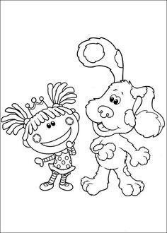 blues clues coloring pages 27 - Blues Clues Coloring Pages
