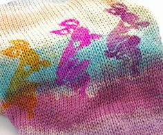 ORDER to dye Double Secret Sock Blanks Dancing Bunnies by galesart