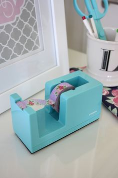 Poppin Aqua desk accessories - For Chic Sake blog!