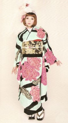 thekimonogallery: Kimono-hime issue 10. Fashion shoot page 50. Via Satomi Grim of Flickr