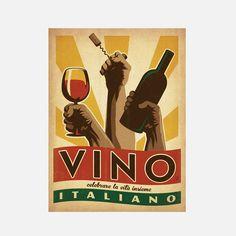 Viva Italia Wine 18x24 design inspiration on Fab.