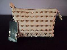 Zara Pale Baby Pink Nude Gold Studded Clutch Ref 1396 205 712 Bloggers | eBay 46$