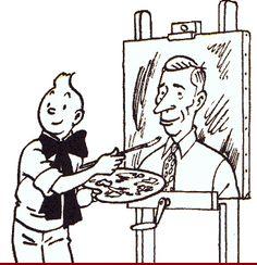 Tintin and his creator