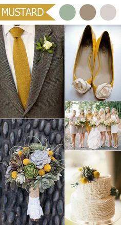 rustic mustard and neutral wedding color ideas for fall 2016 by pantone