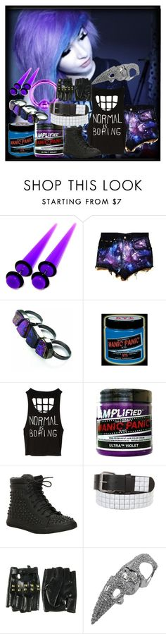 """normal is boring :D"" by michelleeeeeeeeee ❤ liked on Polyvore featuring Katie Rowland, Manic Panic NYC and N.Y.L.A."