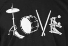 Drummer Tattoo, Drumline Shirts, Top Imagem, Drum Room, Drums Art, Band Nerd, How To Play Drums, Gray Aesthetic, Love Rocks