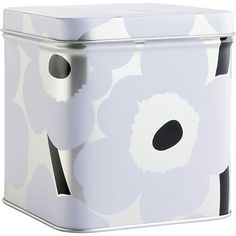 Marimekko Unikko Short White and Silver Tin Box