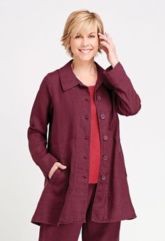 Red Onion Clothing - Bias Back Jacket (FLAX Neutral Two 2015), $118.00…