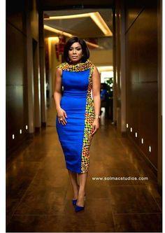 ankara stil Short Dress Blue African Dress for women/ Ankara Short Dress/ Af Latest African Fashion Dresses, African Print Dresses, African Dresses For Women, African Print Fashion, Africa Fashion, African Attire, African Wear, African Women, African Prints