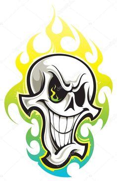 Descargar - Cráneo — Ilustración de stock #36513111