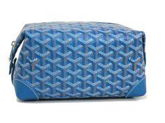 #GOYARD Second Bag Leather / Canvas Blue(BF061702) #eLADY