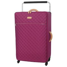 Tesco direct: IT Luggage Tritex Quilted 4-Wheel Persian Red Large Suitcase