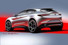 "186 Likes, 2 Comments - CarDesign.ru (@cardesign.ru) on Instagram: ""Alfa Romeo Stelvio official sketches #cardesign #alfa #alfaromeo #stelvio #official #sketch…"""