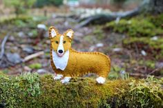 A Welsh Corgi printable pattern for download.