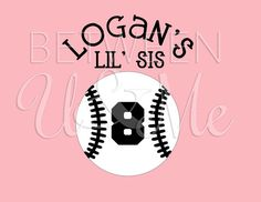 Hey, I found this really awesome Etsy listing at https://www.etsy.com/listing/125578347/baseball-lil-sis-sister-iron-on-decal