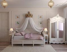 New Wallpaper Bedroom Kids Girls Quartos Ideas Dream Rooms, Dream Bedroom, Room Decor Bedroom, Girls Bedroom, Home Interior, Interior Design Living Room, Baby Zimmer Ikea, Desk In Living Room, Toddler Rooms