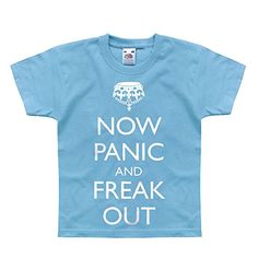 Nutees Now Panic And Freak Out Zombies Unisex Kids T Shirts  Light Blue 1415 Years *** Check out this great product. (This is an affiliate link) #BabyBoyTops