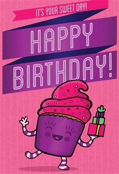 """Princess Cupcake"" printable card. Customize, add text and photos. Print for free!"