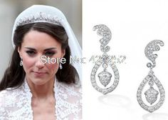 12pairs/lot  Kate Middleton's royal wedding earrings oak leaf and acorn earrings