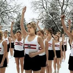 Bund Deutsche Mädel (BDM) girls exercising in the snow. Pin by Paolo Marzioli