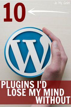 10 #Plugins I'd Lose My Mind Without - Jo, My Gosh! http://jomygosh.com/2015/02/10-plugins-id-lose-mind-without/?utm_content=buffere27d7&utm_medium=social&utm_source=pinterest.com&utm_campaign=buffer | #Wordpress #Blogging